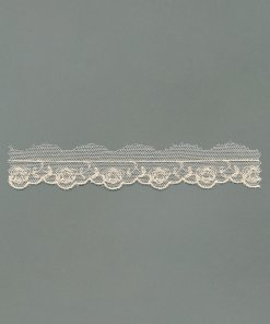 Vintage Embroidered Cotton Tulle