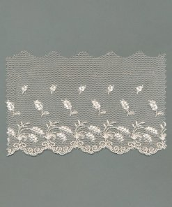 Fancy Rayon Embroidered Cotton Tulle