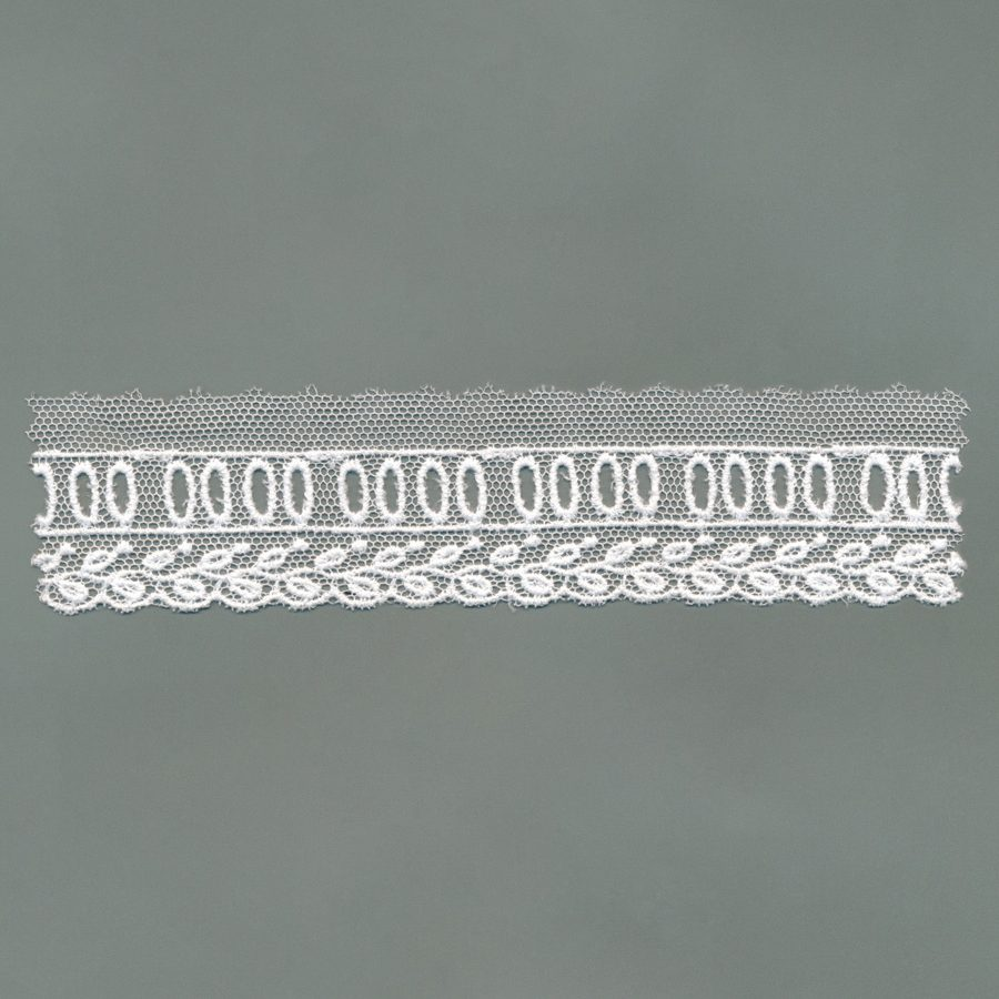 Embroidered European Cotton Tulle Trim