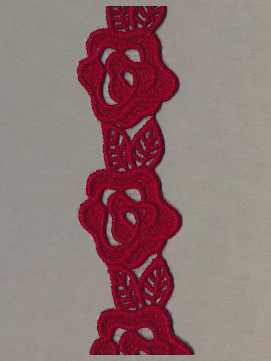 Stickereigallon aus Wolle