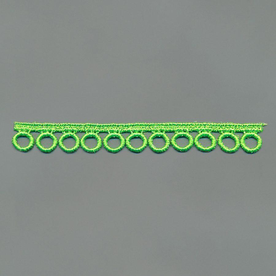 Neon farbige Ätzstickereiband