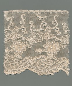 Beaded Swiss Tulle Machine Lace