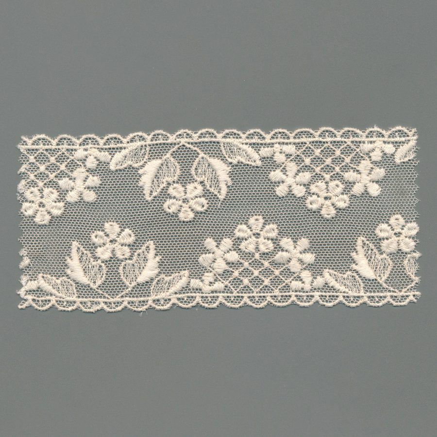 Vintage Tulle Embroidery Lace