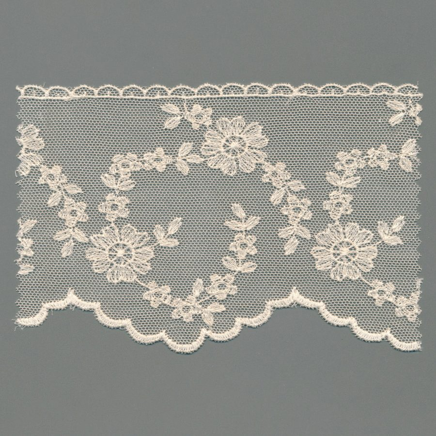 Vintage Tulle Embroidery Edging