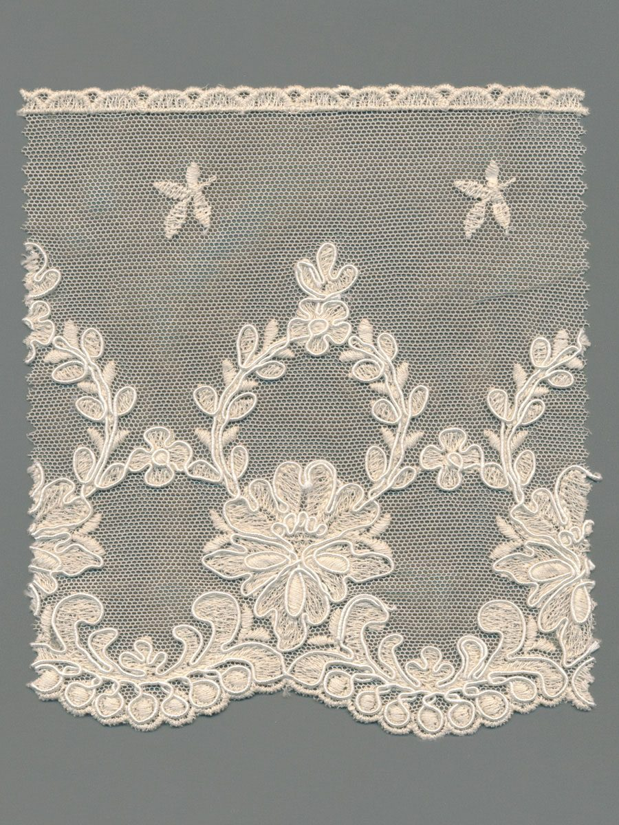Embroidered Cotton Tulle Corded