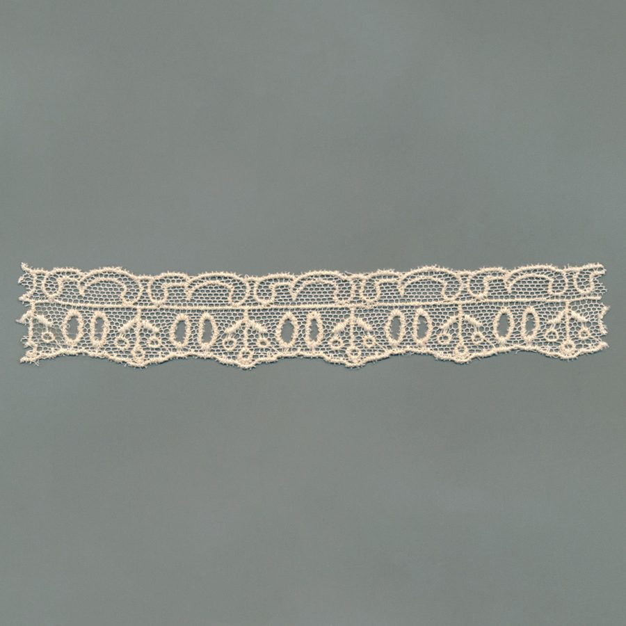 Swiss Tulle Embroidered Trim