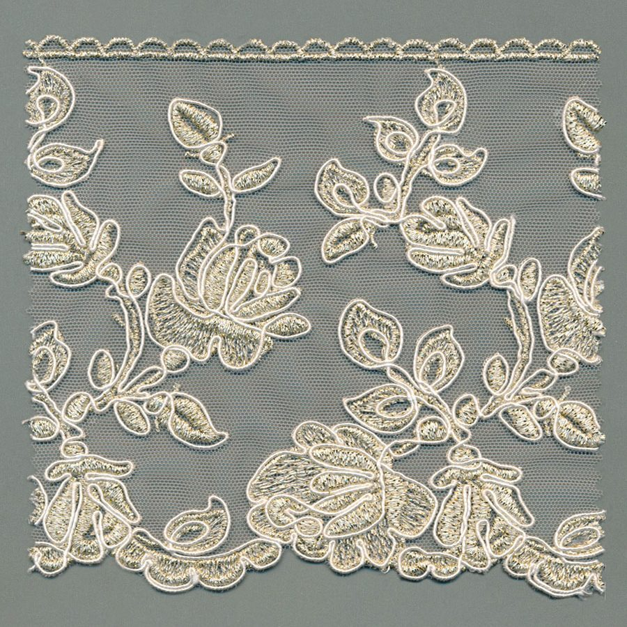 Corded Cotton Tulle Lace