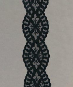 Wool Embroidered Nylon Tulle Gallon