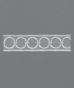 Transparente Stickerei
