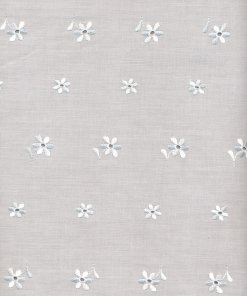 Polyester Embroidered Cotton Allover Fabric