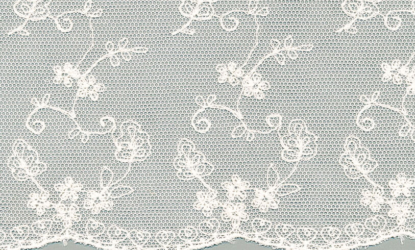 tulle embroidered fabric