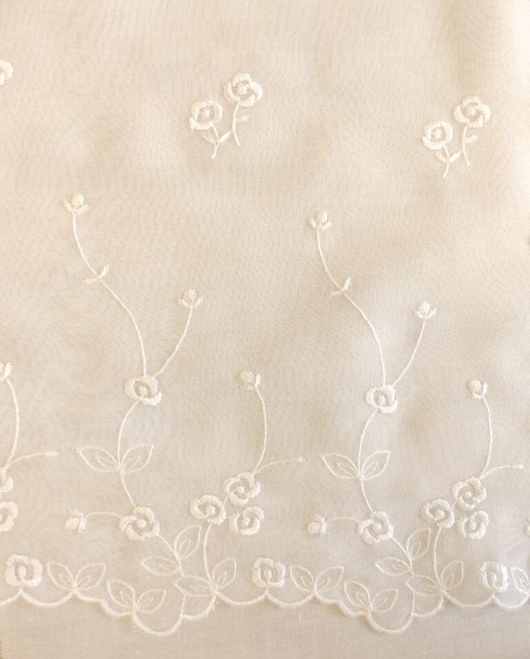 embroidered chiffon